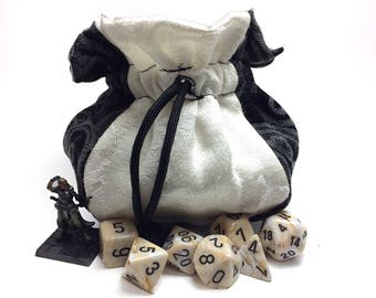 Black and White Dice Bag - Dungeons & Dragons