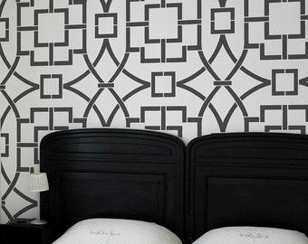 Tea House Trellis Allover Stencil - Better then wallpaper! - Reusable stencils for DIY home décor