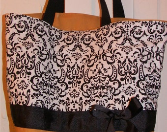 Classic Damask Shabby Chandelier BAG Purse Tote BAG or Diaperbag