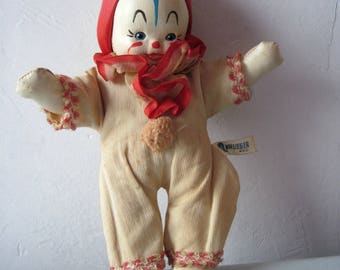 Vintage Krueger stuffed clown doll