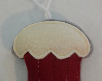 Red Velvet Cupcake Ornament