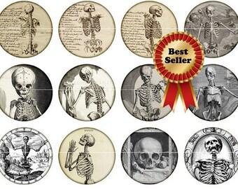 Skeleton Magnets Pins Party Favors Wedding Gothic Gift Sets Fridge Magnets Skeleton Flat Back Buttons
