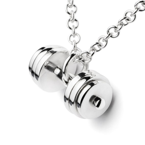necklace the product dumbbell hype fitness