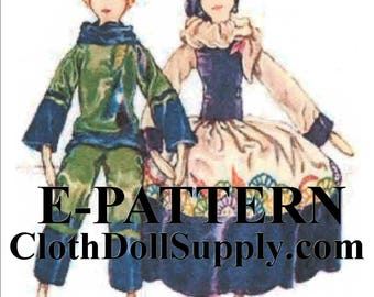 E-Pattern – Two Boudoir Dolls - Cloth Doll Sewing Pattern #EP 2