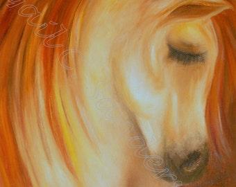 Equine Dreams: Original Oil Painting, Horse Lovers, Decorative Arts, Handmade, Wall Hanging