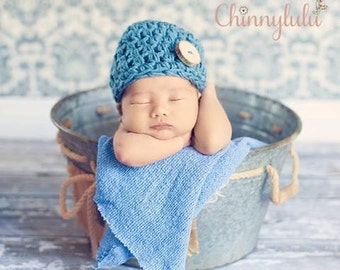 Baby Shower Gift For New Mom ~ Crochet Button Hat ~ Warm Hat For Newborn, Toddler, Boy, Girl ~ Coming Home Hat For Newborn ~ Pick Your Size
