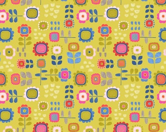 Summer Flowers on Yellow - Hann's House - Lewis and Irene - A279-2  - Available in Fat Quarters, Half Yards and Yards