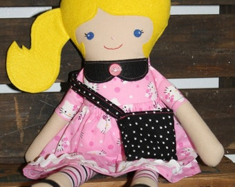 Blond Ponytail Softie Doll/ Hello Kitty/Doll/19""