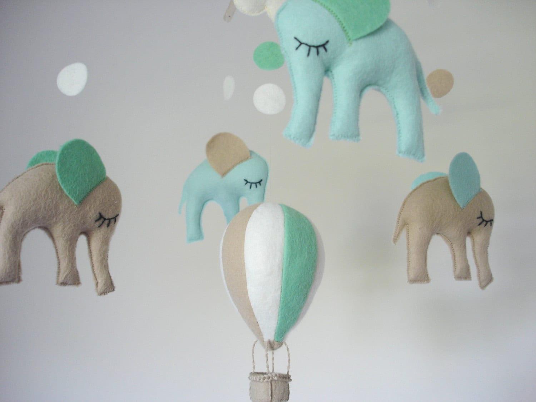 Regalo del bebé móvil elefante-móvil vivero decoración