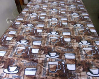 Coffee lovers handmade fleece blanket