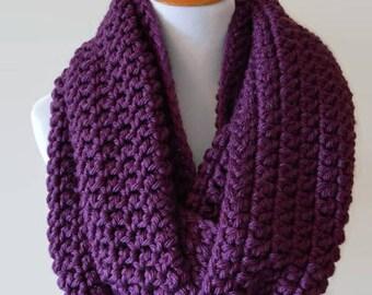 Oversized Scarf, Infinity Scarf, Chunky Scarves, Crochet Scarf, Purple Infinity Scarf, Extra Long, Purple Scarf, Blanket Scarf, Gift Ideas