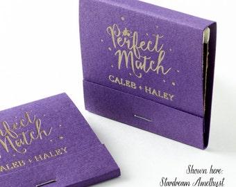 THE PERFECT MATCH w/ Polka Dots Matchbooks - Wedding Favors, Wedding Matches, Wedding Decor, Personalized Matches, Custom Matchbook Favors
