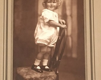 Vintage Photograph of Young Girl, F. Green Photographers Boston, MA, 1930's Vintage Photograph