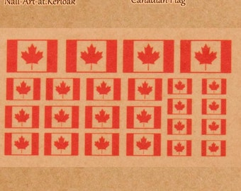 Canadian Flag, Nail Art Stickers, flag of Canada, decals, nail stickers, maple leaf, red maple leaf, flag of Canada  PLEASE READ DESCRIPTION