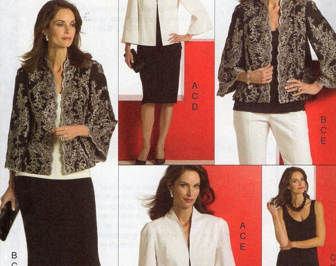 Free Us Ship Sewing Pattern Vogue 8373 Five Easy Pieces Separates Dress Jacket Pants Skirt Size 6 8 10 12 Bust 30.5 31.5 32.5 34 2007