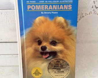 Pomeranians - Toy Breed - reference - dog book - Beverly Pisano - Library Binding - Dog Lover Gift idea - hard cover - like new condition -