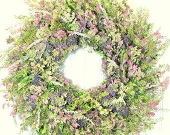Herbal Wreath, Dried Herb Wreath, Kitchen Decor, Farmhouse Decor