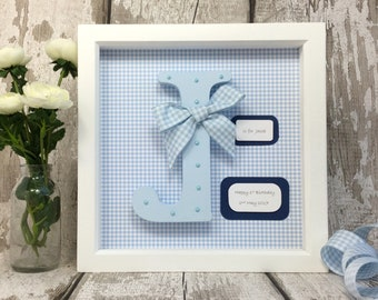 Wooden Letter - Letter Frame - Nursery Wall Art - Christening Gift - Baby Shower Gift -Personalised Gift - First Birthday Gift