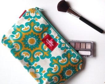 Beautiful Makeup Bag, Large Travel Pouch Cosmetics, Gift for Wife, Holiday Gift, Gift for Traveler, Large Makeup Pouch for Travel Bag