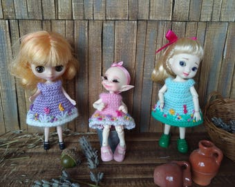 Little Fairy Collection -  Amelia Thimble, Real Puki, Petite Blythe dresses