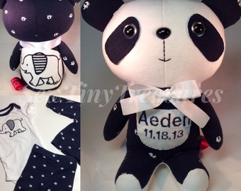 """Memory Baby Clothes Bear 9"""" tall Made to Order"""