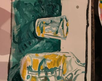 Painting of Bottle and Cup