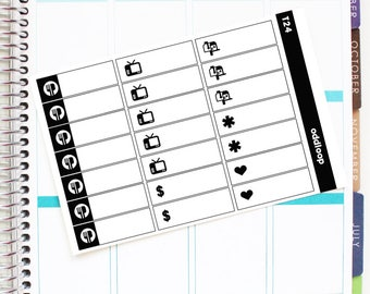 """Salt & Pepper """"Little Things"""" Labels Planner Stickers - For use with Erin Condren Vertical Lifeplanner // T24"""