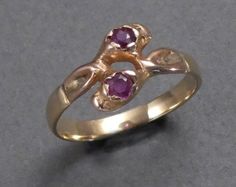 14K Ruby ring c 1860 size 7