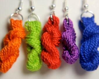 Single Color Yarn Skien Earrings