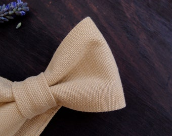 Groomsmen bow tie, natural cream bow tie, bow ties for men,  summer wedding bowtie, gift for men
