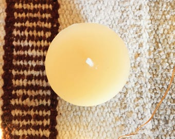 One Natural Beeswax Votive Candle, choice of scent