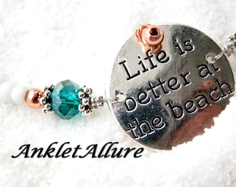 Ankle Bracelet Message Anklet Better At The Beach Anklets for Women GUARANTEE