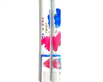 Pink & Blue! 2 Gender Reveal Powder Smoke Cannons!
