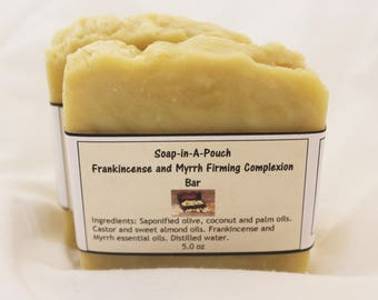 Frankincense and Myrrh Firming Complexion Bar/Natural Firming Complexion Bar/Natural Face Firming Bar/Skin Firming Soap/Natural Toning Soap