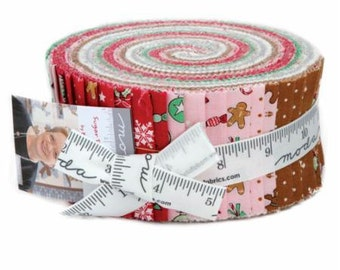 Sugar Plum Christmas Jelly Roll by Bunny Hill Designs for Moda