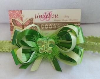 Green Baby Headband - Dressy Green Headband
