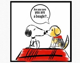 Fun Snoopy Print