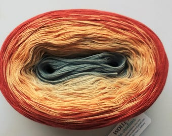 MURAL -- 720 yards/150 gr -- Color Changing Cotton yarn --  Fingering Weight