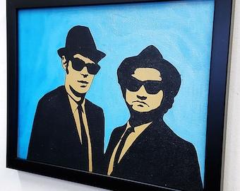 Blues Music Framed Wall Art Canvas Artwork