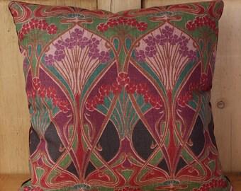 Liberty Of London Ianthe Art Nouveau Cushion Cover Green