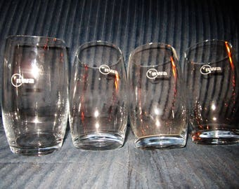 Set of 4 vintage Northwest Airlines highball glasses