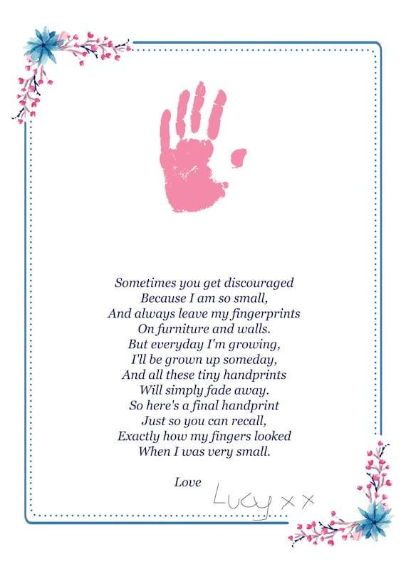 handprint poem fathers day gift digital download a4 and a3. Black Bedroom Furniture Sets. Home Design Ideas