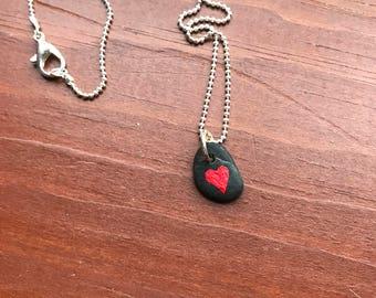 Cutest Heart Rock Necklace