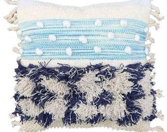 Blue Shaggy Cushion Cover | 55 x 55cm