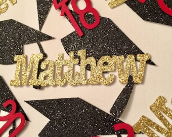 Graduation Party Decoration 2018, Graduation Confetti, Graduation Personalized Name Confetti, Personalized Name Confetti