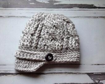 Crochet Hat Pattern, Crochet Hat Pattern, The Sullivan Chunky Newsboy Hat Pattern, Women's Hat Pattern, One Size, Crochet, Patterns, Newsboy