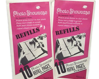 Vintage Instamatic Photo Album Refill Pages- Square Photo Sleeves 36 ct- Picture Album Sleeves- Vintage Photo Album Pages- Square Photos