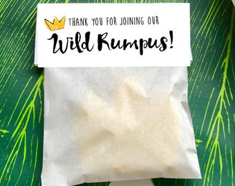 Where The Wild Things Are Favor Bag Toppers. Thank You For Joining Our Wild Rumpus. King of All Wild Things Thank You. Printable.