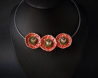 Comtemporary jewelry - Modern Statement Necklace - Unique Choker Necklace - Stylish choker - Modern jewelry  - Unique extravagant jewelry