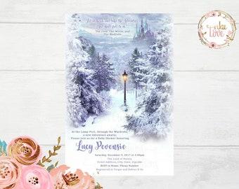 Narnia Baby Shower Invitation
